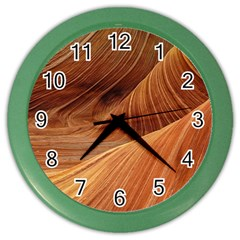 Sandstone The Wave Rock Nature Red Sand Color Wall Clocks