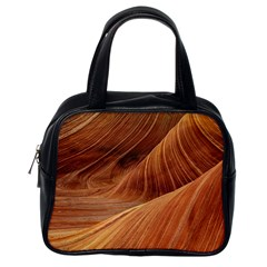 Sandstone The Wave Rock Nature Red Sand Classic Handbags (one Side)