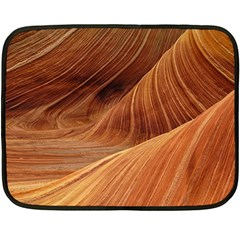Sandstone The Wave Rock Nature Red Sand Double Sided Fleece Blanket (mini)