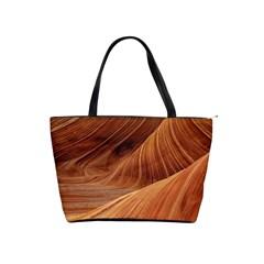 Sandstone The Wave Rock Nature Red Sand Shoulder Handbags