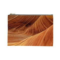 Sandstone The Wave Rock Nature Red Sand Cosmetic Bag (large)