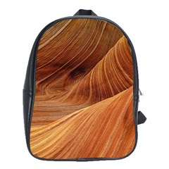 Sandstone The Wave Rock Nature Red Sand School Bags(large)