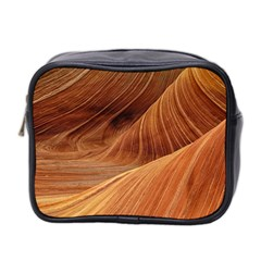 Sandstone The Wave Rock Nature Red Sand Mini Toiletries Bag 2 Side