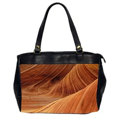 Sandstone The Wave Rock Nature Red Sand Office Handbags (2 Sides)
