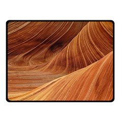 Sandstone The Wave Rock Nature Red Sand Fleece Blanket (small)