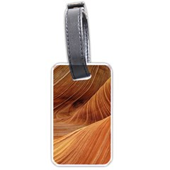 Sandstone The Wave Rock Nature Red Sand Luggage Tags (one Side)