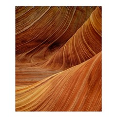 Sandstone The Wave Rock Nature Red Sand Shower Curtain 60  X 72  (medium)