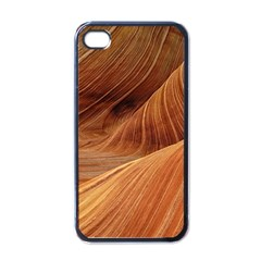 Sandstone The Wave Rock Nature Red Sand Apple Iphone 4 Case (black)