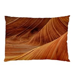 Sandstone The Wave Rock Nature Red Sand Pillow Case (two Sides)