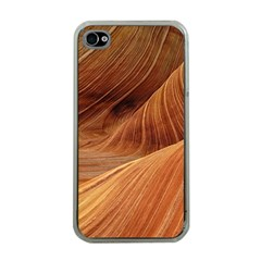Sandstone The Wave Rock Nature Red Sand Apple Iphone 4 Case (clear)