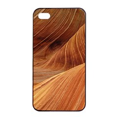 Sandstone The Wave Rock Nature Red Sand Apple Iphone 4/4s Seamless Case (black)