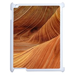 Sandstone The Wave Rock Nature Red Sand Apple Ipad 2 Case (white)