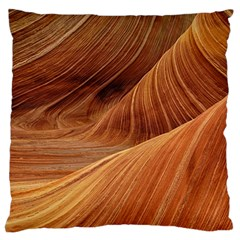 Sandstone The Wave Rock Nature Red Sand Large Cushion Case (two Sides)