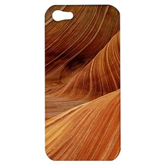 Sandstone The Wave Rock Nature Red Sand Apple Iphone 5 Hardshell Case