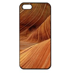 Sandstone The Wave Rock Nature Red Sand Apple Iphone 5 Seamless Case (black)
