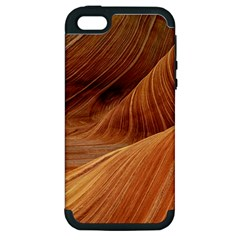 Sandstone The Wave Rock Nature Red Sand Apple Iphone 5 Hardshell Case (pc+silicone)