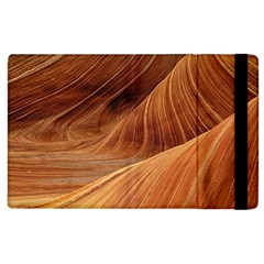 Sandstone The Wave Rock Nature Red Sand Apple Ipad 3/4 Flip Case