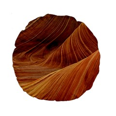 Sandstone The Wave Rock Nature Red Sand Standard 15  Premium Round Cushions