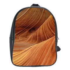 Sandstone The Wave Rock Nature Red Sand School Bags (xl)
