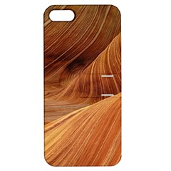 Sandstone The Wave Rock Nature Red Sand Apple Iphone 5 Hardshell Case With Stand