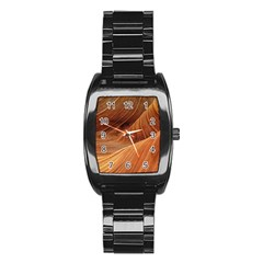 Sandstone The Wave Rock Nature Red Sand Stainless Steel Barrel Watch