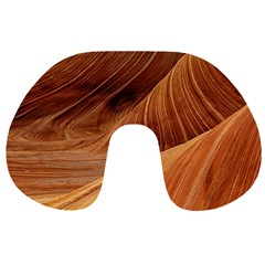 Sandstone The Wave Rock Nature Red Sand Travel Neck Pillows