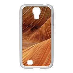 Sandstone The Wave Rock Nature Red Sand Samsung Galaxy S4 I9500/ I9505 Case (white)
