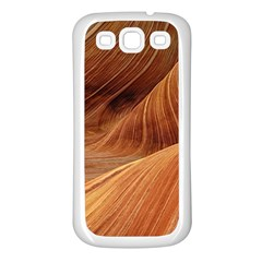 Sandstone The Wave Rock Nature Red Sand Samsung Galaxy S3 Back Case (white)