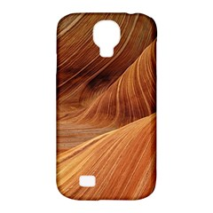 Sandstone The Wave Rock Nature Red Sand Samsung Galaxy S4 Classic Hardshell Case (pc+silicone)