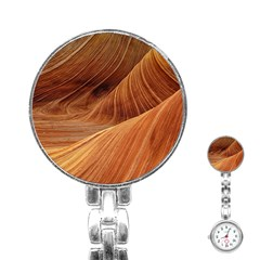 Sandstone The Wave Rock Nature Red Sand Stainless Steel Nurses Watch