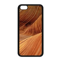 Sandstone The Wave Rock Nature Red Sand Apple Iphone 5c Seamless Case (black)