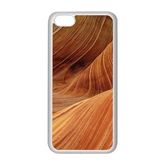 Sandstone The Wave Rock Nature Red Sand Apple Iphone 5c Seamless Case (white)