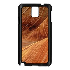 Sandstone The Wave Rock Nature Red Sand Samsung Galaxy Note 3 N9005 Case (black)