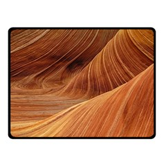 Sandstone The Wave Rock Nature Red Sand Double Sided Fleece Blanket (small)