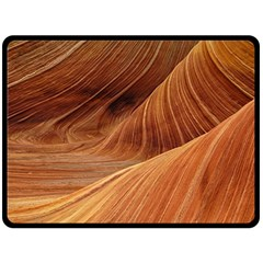 Sandstone The Wave Rock Nature Red Sand Double Sided Fleece Blanket (Large)