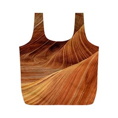 Sandstone The Wave Rock Nature Red Sand Full Print Recycle Bags (m)