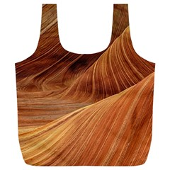 Sandstone The Wave Rock Nature Red Sand Full Print Recycle Bags (l)