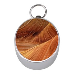 Sandstone The Wave Rock Nature Red Sand Mini Silver Compasses