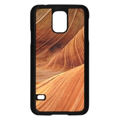 Sandstone The Wave Rock Nature Red Sand Samsung Galaxy S5 Case (black)