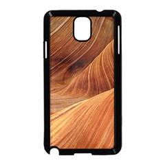 Sandstone The Wave Rock Nature Red Sand Samsung Galaxy Note 3 Neo Hardshell Case (black)