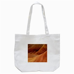 Sandstone The Wave Rock Nature Red Sand Tote Bag (white)