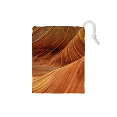 Sandstone The Wave Rock Nature Red Sand Drawstring Pouches (small)