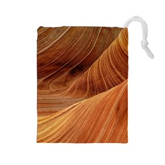 Sandstone The Wave Rock Nature Red Sand Drawstring Pouches (large)