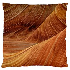 Sandstone The Wave Rock Nature Red Sand Large Flano Cushion Case (two Sides)