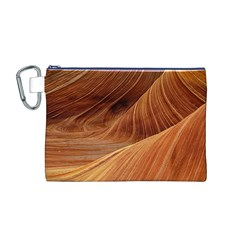 Sandstone The Wave Rock Nature Red Sand Canvas Cosmetic Bag (m)
