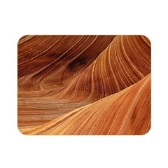 Sandstone The Wave Rock Nature Red Sand Double Sided Flano Blanket (mini)