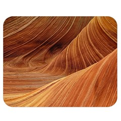 Sandstone The Wave Rock Nature Red Sand Double Sided Flano Blanket (medium)