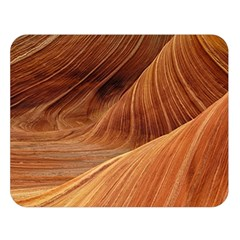 Sandstone The Wave Rock Nature Red Sand Double Sided Flano Blanket (large)