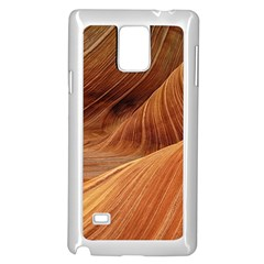 Sandstone The Wave Rock Nature Red Sand Samsung Galaxy Note 4 Case (white)
