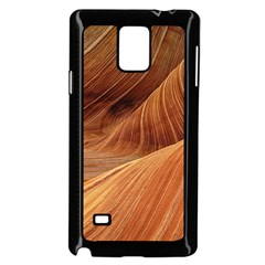 Sandstone The Wave Rock Nature Red Sand Samsung Galaxy Note 4 Case (Black)